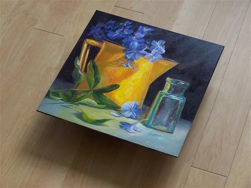 """""""Golden Pitcher and Glass"""" original fine art by Donna Munsch"""