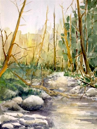 """brook in the fall"" original fine art by Betty Argiros"