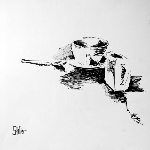 """2154 Porcelain on Spoon"" original fine art by Dietmar Stiller"