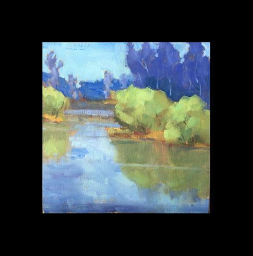 """Springtime on Delta Ponds"" original fine art by Victoria  Biedron"