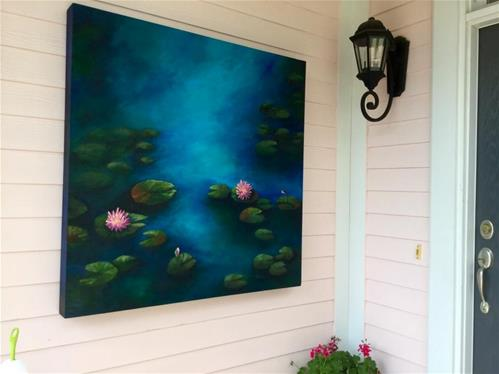 """Porch Water Lilies"" original fine art by Torrie Smiley"
