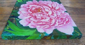 """""""Pink Peony"""" original fine art by Patricia Musgrave"""