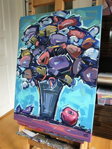 """Flower Exploration 10"" original fine art by Roger Akesson"