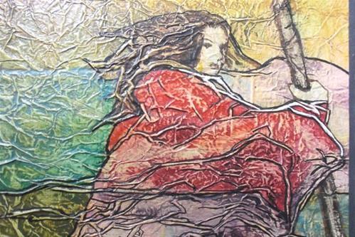 """Zen Inspired Watercolor on Tissue Paper"" original fine art by lynne french"