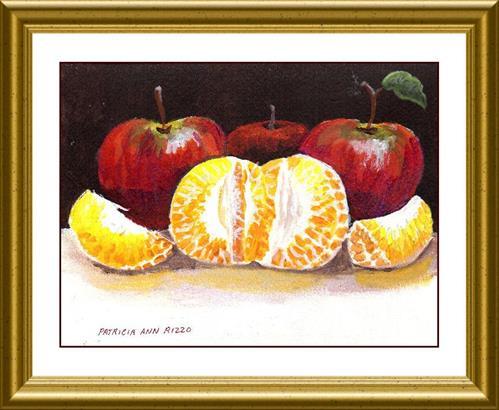 """Apples and Oranges"" original fine art by Patricia Ann Rizzo"