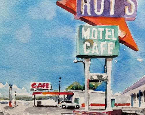 """2330 ROY'S"" original fine art by Dietmar Stiller"