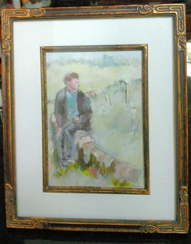 """The Welshman"" original fine art by Ann Rudd"