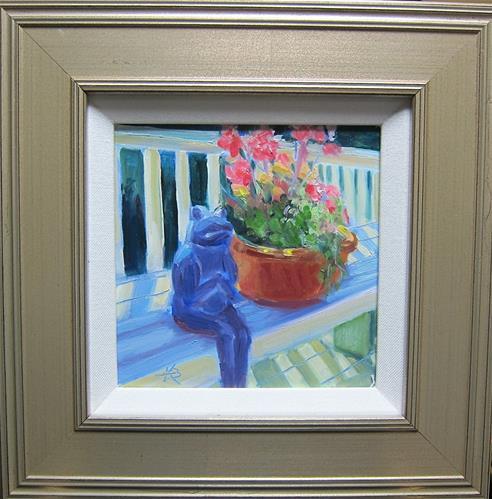 """Frog Sitting"" original fine art by Kathy Bodamer"