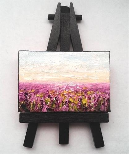 """Fields of Lavender "" original fine art by Camille Morgan"