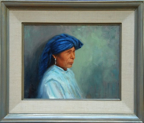 """WRAPPED IN BLUE"" original fine art by Dj Lanzendorfer"