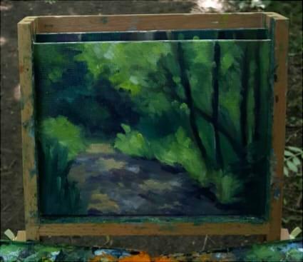 """Dappled Light Study"" original fine art by J M Needham"