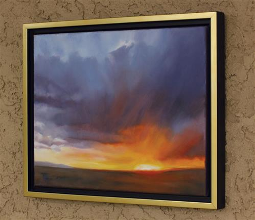 """Prairie Sundown (framed)"" original fine art by Pamela Poll"