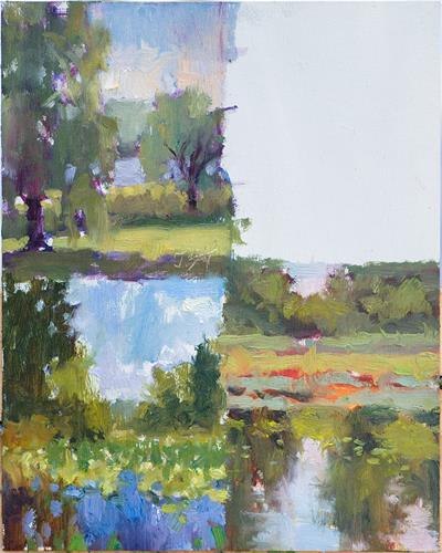 """Strip O Lilies (study 3)"" original fine art by Todd Zuithof"