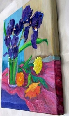 """Spring Irises"" original fine art by Patricia Musgrave"