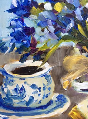 """Summer Blues"" original fine art by Molly Rohrscheib Hathaway"