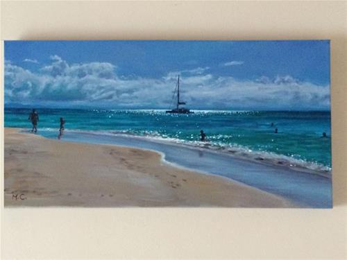 """""""Coastline"""" original fine art by Michelle chen"""