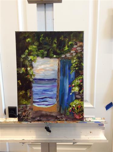 """Framed Beckoning"" original fine art by Molly Rohrscheib Hathaway"