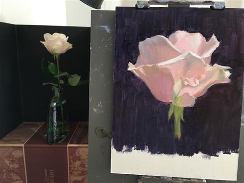 """""""Snow Avalanche Rose 2"""" original fine art by Susan Pollard Gillespie"""