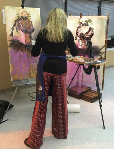 """Purple Reign"" original fine art by Johanna Spinks"