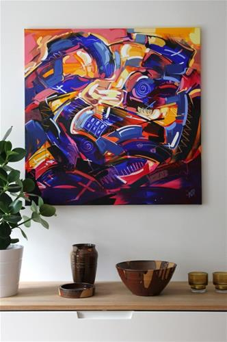 """""""Shapes & Movement 41"""" original fine art by Roger Akesson"""