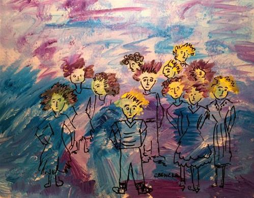 """The Birds#4"" original fine art by Caren Benzer"