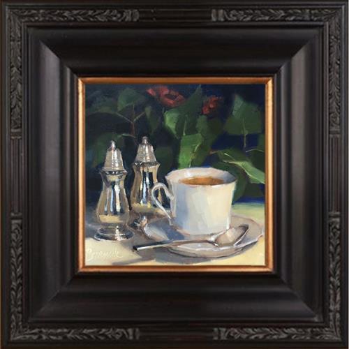"""Tea in the Parlor"" original fine art by Candace Brancik"