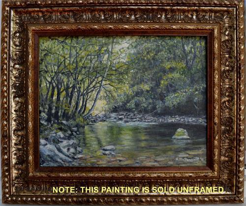 """Smokey Mountain Stream"" original fine art by Kathleen McDermott"