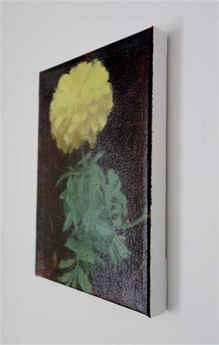 """Yellow Marigold, Wiscasset, ME (no.127)"" original fine art by Michael William"