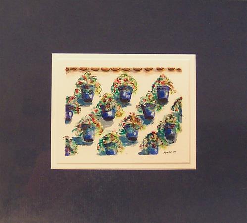 """""""WALL OF FLOWERS"""" original fine art by Mary Ellen Koser"""