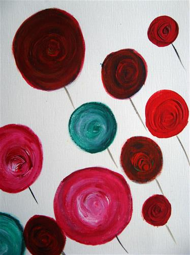 """""""Among The Roses"""" original fine art by Alina Frent"""
