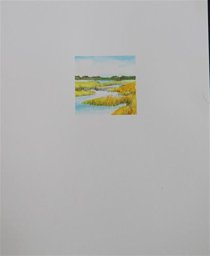 """Drake's Island Marsh 2"" original fine art by Kathleen Straube"