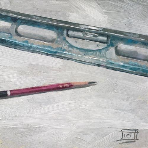 """Leveling out"" original fine art by Johan Derycke"