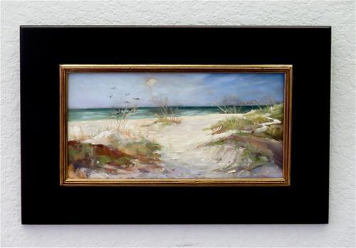 """Sand dunes at Coquina Beach"" original fine art by Christa Friedl"