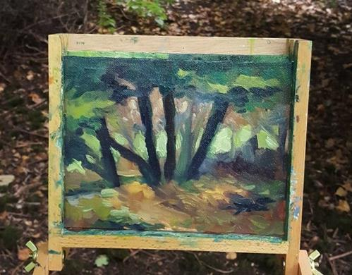 """Forest Floor Study"" original fine art by J M Needham"