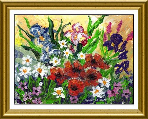 """Wild Bouquet Palette Knife"" original fine art by Patricia Ann Rizzo"