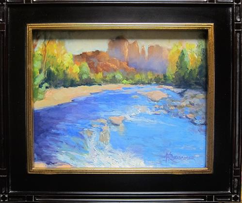 """""""Red Rock Crossing"""" original fine art by Kathy Bodamer"""