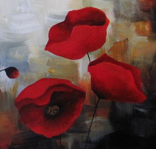 """Poppy Ensemble"" original fine art by ~ces~ Christine E. S. Code"