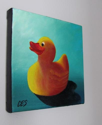 """""""Rubber Ducky"""" original fine art by ~ces~ Christine E. S. Code"""