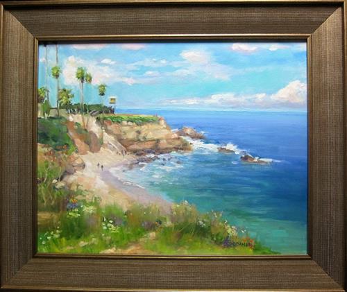 """""""La Jolla"""" original fine art by Kathy Bodamer"""