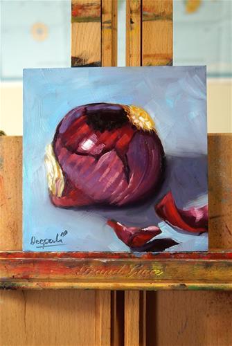 """Red onion"" original fine art by Dipali Rabadiya"