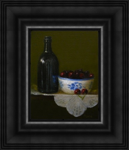 """Bowl of Cherries"" original fine art by MeeLi Lee"