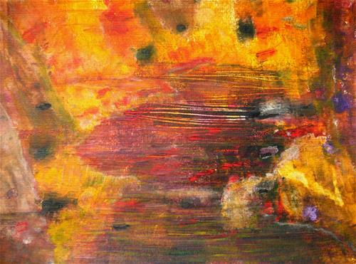 """Colorful River"" original fine art by Alina Frent"