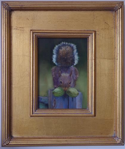 """Ah Nuts"" original fine art by Marilyn R. Place"