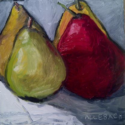 """""""4 pears"""" original fine art by Jo Allebach"""