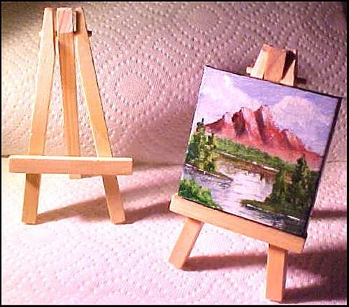 """Miniature Gem 1 In the Manner of Bob Ross"" original fine art by Patricia Ann Rizzo"