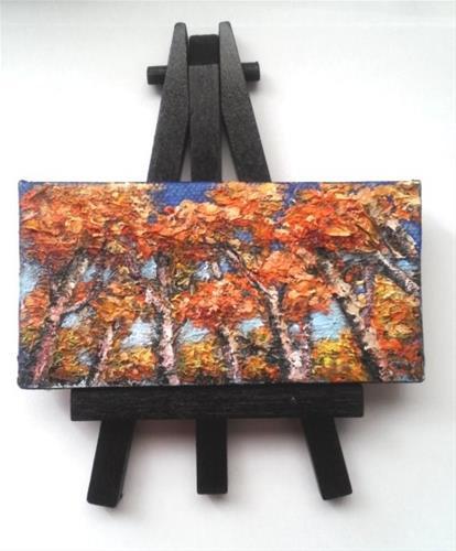 """Fall Trees"" original fine art by Camille Morgan"