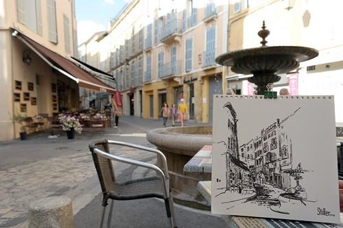 """""""2582 Aix-en-Provence"""" original fine art by Dietmar Stiller"""