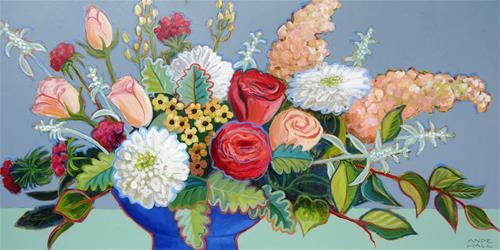 """Blue Bowl"" original fine art by Ande Hall"