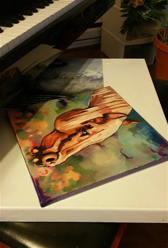 """Grazing III"" original fine art by Leni Tarleton"