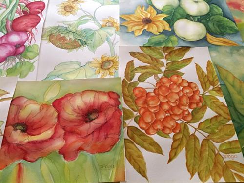 """Branch of fall, ash berries"" original fine art by Inese Poga"